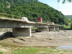 Podul de peste râul Moldova, dintre localităţile Gura Humorului şi Frasin