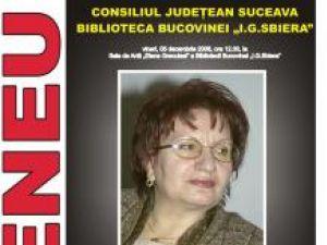 """Lectură publică: Scriitoarea Niculina Oprea, la Biblioteca Bucovinei """"I.G. Sbiera"""""""