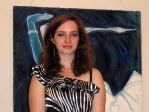 Artista plastică Oana-Cristina Bedrulea, la vernisaj