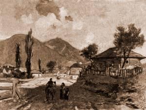 Moldoviţa – desen de Mattias Adolf Charlemont (1820-1871)