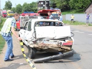 Cele două maşini implicate în accidentul din vara anului 2012