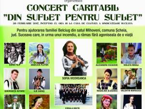 """Aproape 16.000 de lei, adunaţi la Concertul caritabil """"Din suflet, pentru suflet"""""""