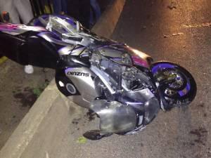 Motocicleta implicată în accidentul de la Milișăuți