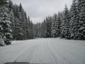 DN 17D, între localităţile Valea Mare (Bistriţa-Năsăud) şi Cârlibaba (Suceava), închis circulaţiei rutiere pe timpul iernii