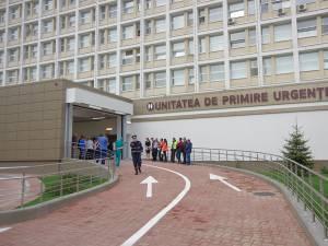Cei doi tineri au ajuns la Unitatea de Primire Urgențe Suceava