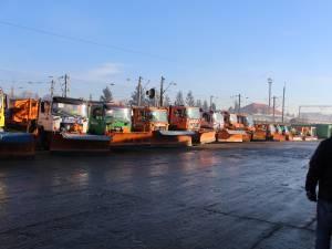 Pregătirile pentru intervenţiile de deszăpezire în municipiul Suceava, verificate în teren