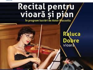 Recital de vioară și pian, cu lucrări de Astor Piazzolla, la USV