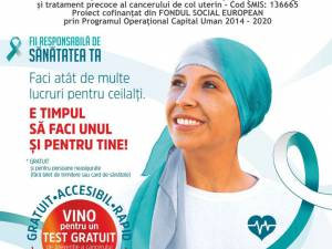 Caravana de testare gratuită pentru cancerul de col uterin ajunge luni, 25 octombrie, la Rădăuți
